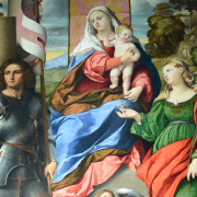 Vicenza, Chiesa di Santo Stefano, Madonna col Bamino e i santi Giorgio e Lucia, 1518-1520