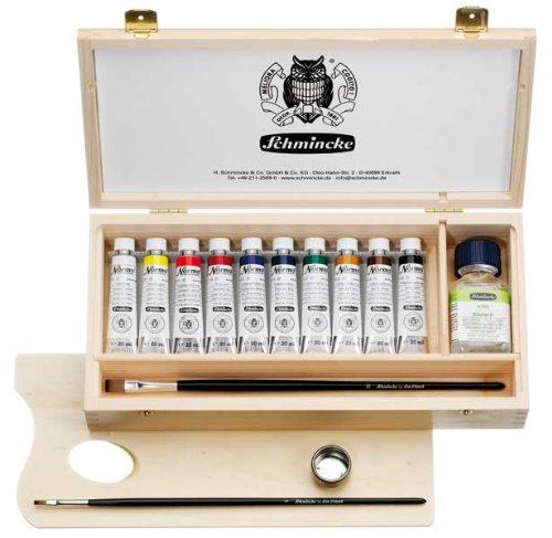 Schmincke k nstlerfarben 71 210 097 set di colori ad for Colori ad olio professionali